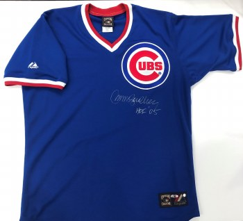 RYNE SANDBERG AUTOGRAPHED HAND SIGNED CUBS JERSEY