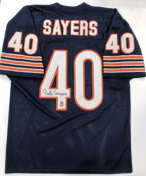 GALE SAYERS AUTOGRAPHED HAND SIGNED CHICAGO BEARS JERSEY