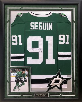 TYLER SEGUIN AUTOGRAPHED HAND SIGNED CUSTOM FRAMED DALLAS STARS JERSEY