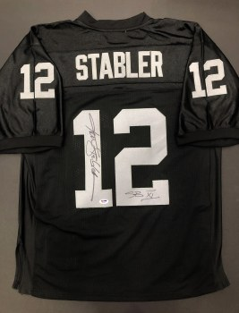 KEN STABLER AUTOGRAPHED HAND SIGNED RAIDERS JERSEY