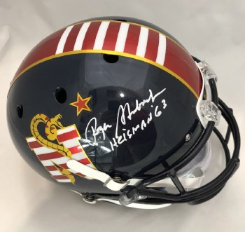 ROGER STAUBACH AUTOGRAPHED HAND SIGNED FULL SIZE NAVY REPLICA HELMET