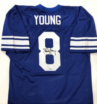 STEVE YOUNG AUTOGRAPHED HAND SIGNED BYU JERSEY