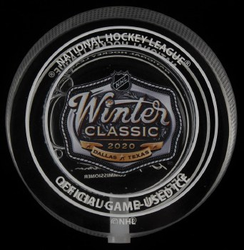 2020 WINTER CLASSIC ICE FILLED PUCK