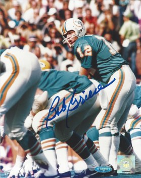 BOB GRIESE AUTOGRAPHED HAND SIGNED MIAMI DOLPHINS 8X10 PHOTO