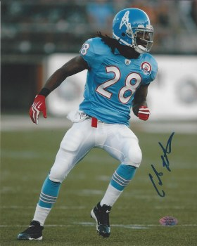 CHRIS JOHNSON AUTOGRAPHED HAND SIGNED TENNESSEE TITANS 8X10 PHOTO
