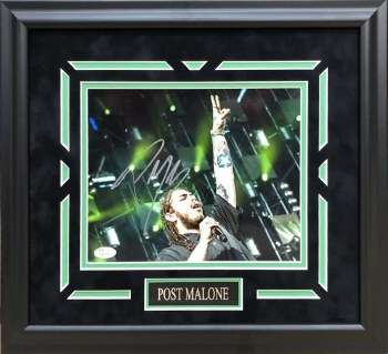 POST MALONE AUTOGRAPHED HAND SIGNED FRAMED 8X10 PHOTO