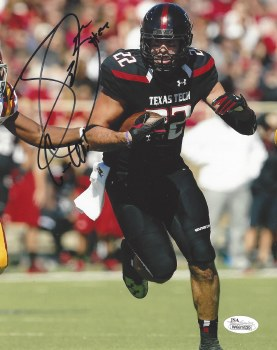 JACE AMARO AUTOGRAPHED HAND SIGNED TEXAS TECH 8X10 PHOTO