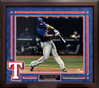 ADRIAN BELTRE AUTOGRAPHED HAND SIGNED CUSTOM FRAMED TEXAS RANGERS 16X20 PHOTO
