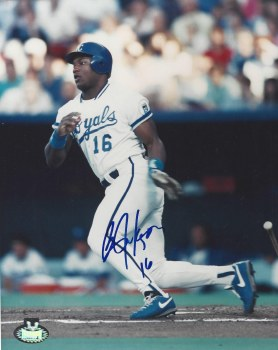 BO JACKSON AUTOGRAPHED KANSAS CITY ROYALS 8X10 PHOTO