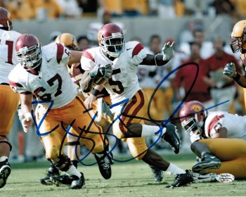 REGGIE BUSH AUTOGRAPHED HAND SIGNED USC 8X10 PHOTO