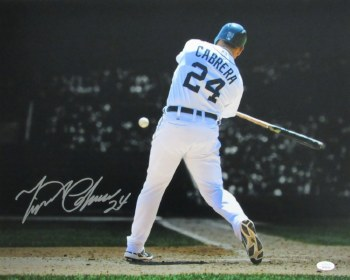 MIGUEL CABRERA AUTOGRAPHED HAND SIGNED DETROIT TIGERS 16X20 PHOTO