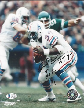 EARL CAMPBELL AUTOGRAPHED HAND SIGNED OILERS 8X10 PHOTO