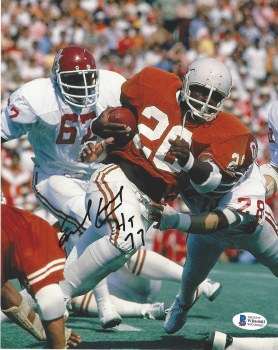 EARL CAMPBELL AUTOGRAPHED HAND SIGNED UT 8X10 PHOTO