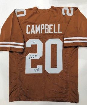 EARL CAMPBELL AUTOGRAPHED HAND SIGNED UT LONGHORNS JERSEY