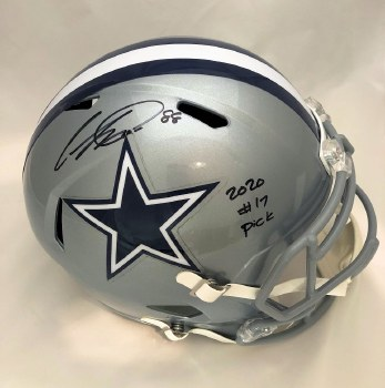 CEEDEE LAMB AUTOGRAPHED HAND SIGNED FULL SIZE REPLICA DALLAS COWBOYS HELMET W/ 2020 #17 PICK INSCRIPTION
