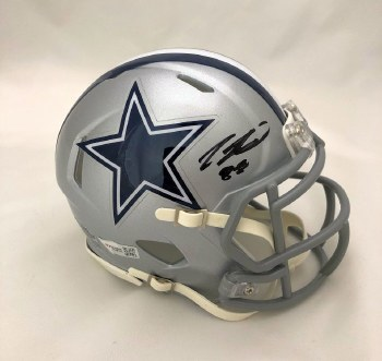 CEEDEE LAMB AUTOGRAPHED HAND SIGNED DALLAS COWBOYS MINI HELMET