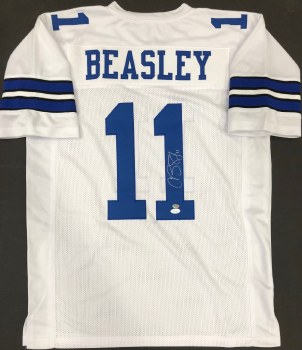 COLE BEASLEY AUTOGRAPHED HAND SIGNED DALLAS COWBOYS JERSEY