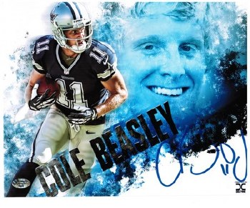 COLE BEASLEY - COWBOYS UNFRAMED SIGNED PHOTO