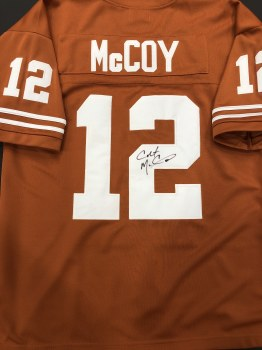 COLT MCCOY AUTOGRAPHED HAND SIGNED UT JERSEY