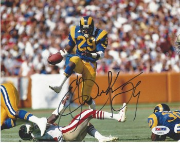 ERIC DICKERSON AUTOGRAPHED HAND SIGNED UNFRAMED RAMS 8X10 PHOTO
