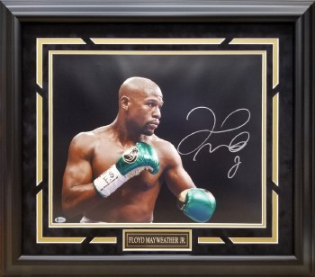 FLOYD MAYWEATHER AUOGRAPHED HAND SIGNED FRAMED 16X20