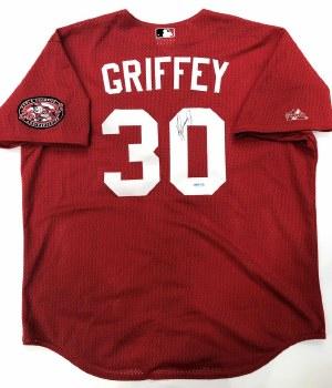 KEN GRIFFEY JR. AUTOGRAPHED HAND SIGNED CINCINNATI REDS MESH JERSEY
