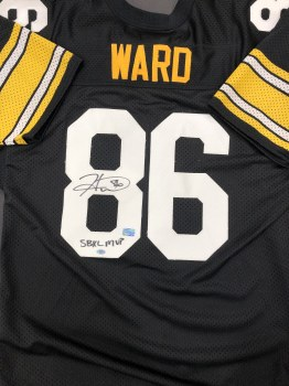 HINES WARD - STEELERS UNFRAMED SIGNED JERSEY