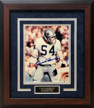 CHUCK HOWLEY AUTOGRAPHED HAND SIGNED AND CUSTOM FRAMED 8X10 PHOTO
