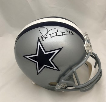 HAND SIGNED MICHAEL IRVIN DALLAS COWBOYS REPLICA HELMET