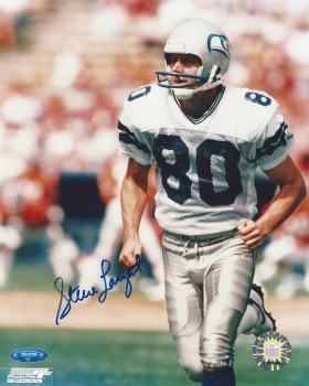 STEVE LARGENT AUTOGRAPHED HAND SIGNED SEATTLE SEAHAWKS 8X10 PHOTO