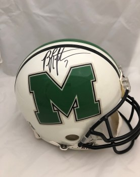 BYRON LEFTWICH AUTOGRAPHED HAND SIGNED FULL SIZE AUTHENTIC MARSHALL HELMET