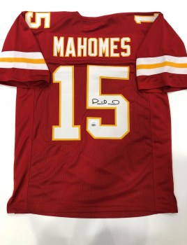 PATRICK MAHOMES AUTOGRAPHED HAND SIGNED KANSAS CITY CHIEFS JERSEY