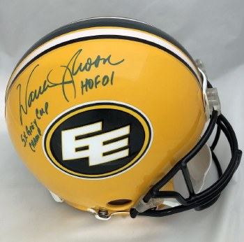 WARREN MOON AUTOGRAPHED HAND SIGNED EDMONTON ESKIMOS FULL SIZE AUTHENTIC HELMET