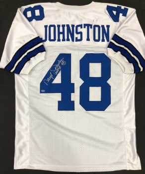 DARYL JOHNSTON AUTOGRAPHED HAND SIGNED DALLAS COWBOYS JERSEY