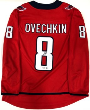 ALEX OVECHKIN AUTOGRAPHED HAND SIGNED WASHINGTON CAPITALS JERSEY