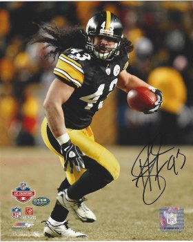 TROY POLAMALU AUTOGRAPHED HAND SIGNED STEELERS 8X10 PHOTO
