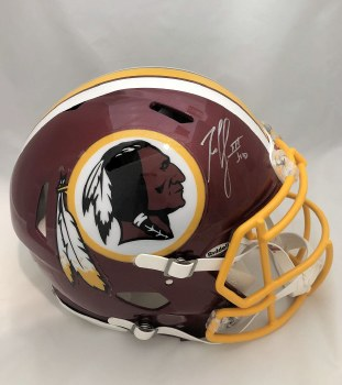 ROBERT GRIFFIN III AUTOGRAPHED HAND SIGNED FULL SIZE AUTHENTIC REDSKINS HELMET