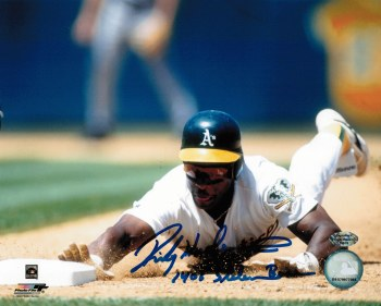 RICKEY HENDERSON - ATHLETICS UNFRAMED SIGNED PHOTO