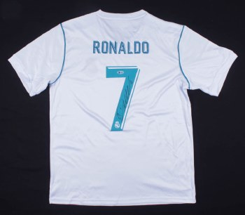 CRISTIANO RONALDO AUTOGRAPHED HAND SIGNED REAL MADRID JERSEY