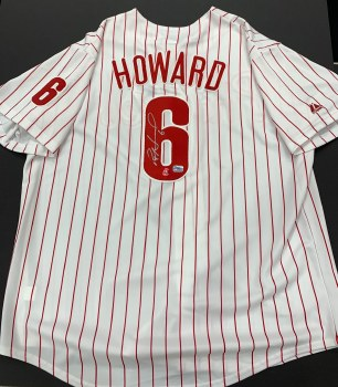 RYAN HOWARD - PHILLIES UNFRAMED SIGNED JERSEY