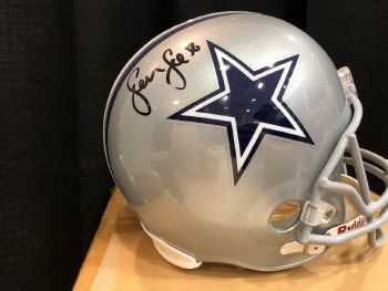 SEAN LEE AUTOGRAPHED HAND SIGNED DALLAS COWBOYS FULL SIZE REPLICA HELMET