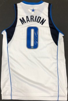 SHAWN MARION AUTOGRAPHED HAND SIGNED DALLAS MAVERICKS JERSEY