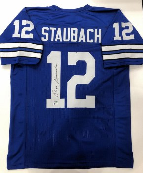 ROGER STAUBACH AUTOGRAPHED HAND SIGNED DALLAS COWBOYS JERSEY