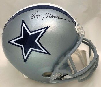 ROGER STAUBACH AUTOGRAPHED HAND SIGNED CUSTOM FRAMED FULL SIZE REPLIA DALLAS COWBOYS HELMET