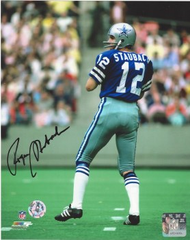 ROGER STUABACH AUTOGRAPHED HAND SIGNED DALLAS COWBOYS 8X10 PHOTO