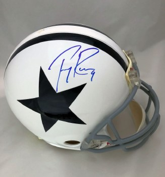 TONY ROMO AUTOGRAPHED HAND SIGNED FULL SIZE DALLAS COWBOYS THROWBACK PROLINE HELMET
