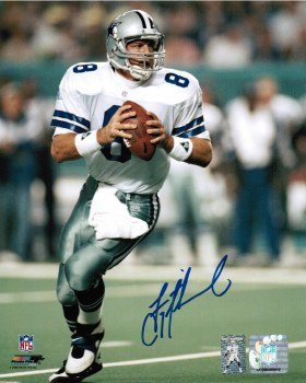 TROY AIKMAN AUTOGRAPHED HAND SIGNED DALLAS COWBOYS 8X10 PHOTO