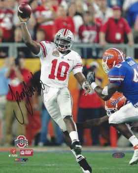 TROY SMITH OHIO STATE AUTOGRAPHED HAND SIGNED 8X10 PHOTO