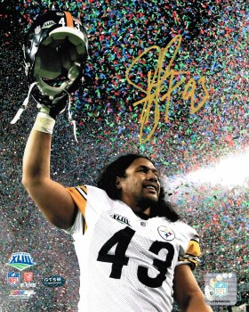 SIGNED TROY POLAMALU 16X20 PHOTO