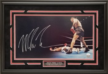 MIKE TYSON AUTOGRAPHED HAND SIGNED CUSTOM FRAMED PHOTO